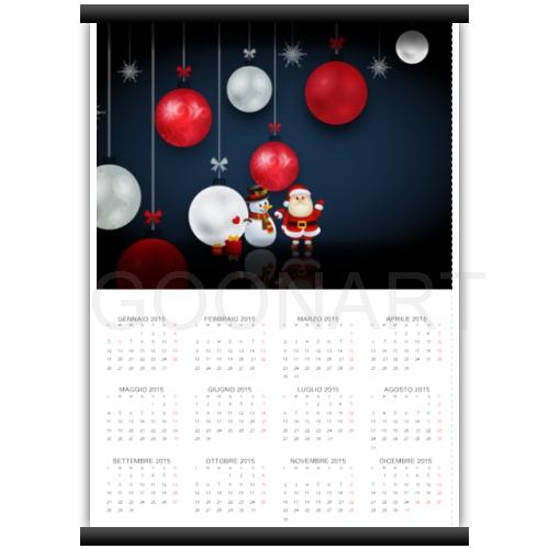 Calendario con grafica di Natale