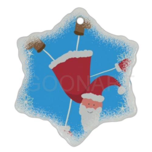 Decorazione natalizia con grafica di Babbo Natale